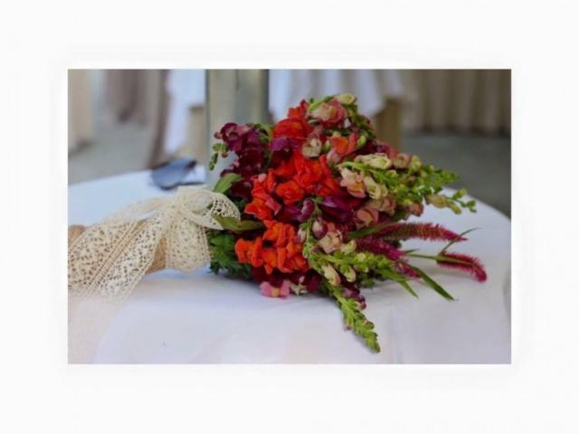 rustikalni vjenčani buket