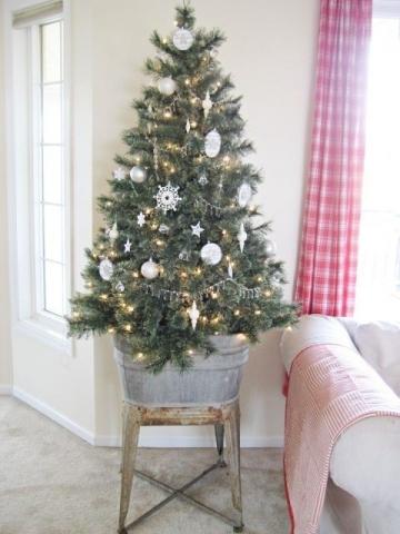 božićne dekoracije, bor