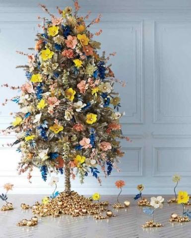 božićne dekoracije, cvijeće