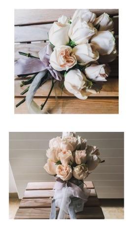 romantični vjenčani buket