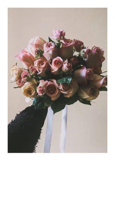 vjenčani buket rozi